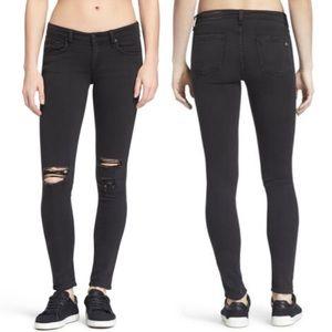 rag & bone mid-rise skinny jeans 23 rock wholes
